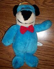 Vintage 1989 Huckleberry Hound Blue Dog in Hat/Bowtie Stuffed Animal Plush Toy