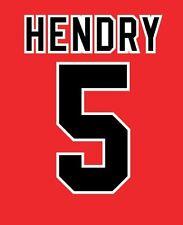 No 5 Hendry Blackburn Rovers Away 1995-1996 Football Nameset for shirt