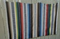 Vintage Mexican Serape Blanket Rug Rainbow Wonderful #2