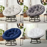 Papasan Chair W/ Cushion Modern Living Room Bedroom Seat Bowl Steel Frame Velvet