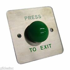 Model Pbm100 Press To Exit Button With Large Green Button & Gang Box