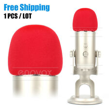 Pop Filter Windshield Microphone Foam Cover For Blue Yeti Pro Mic Windscreen Red