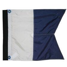 "Nylon Alpha Flag with Velcro Side & Plastic Stiffener, 20""x24"""