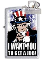 Zippo 205 uncle sam get a job Lighter with PIPE INSERT PL