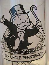 """Original Vintage 1996 McDonalds MONOPOLY Rich Uncle Pennybags Glass 5X3.75"""" 257"""