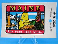 "VINTAGE... ""MAINE - THE PINE TREE STATE""   STICKER / DECAL   (NEW OLD STOCK)"