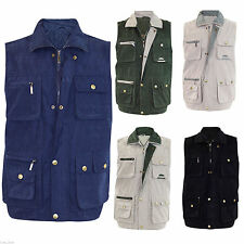 Mens Body Warmer Waistcoat Safari Gilet Jacket Shooting Fishing Hunting Hiking