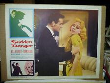 SUDDEN DANGER, orig 1956 LC (Tom Drake grasps Beverly Garland)