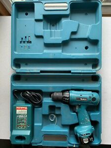 """MAKITA 6213D 12V Cordless 3/8"""" Drill steel 10mm Charger Case Tested Works"""