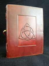 TRIQUETRA Pagan Wicca Handmade Leather Journal Book of Shadows Grimoire Diary
