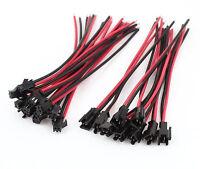 2 Paar 4 Stück 2Pin JST SMP Stecker Buchse mit Fixierung 15cm 20AWG RC Kabel