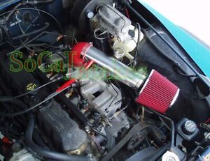 Red Long Air Intake Kit & Filter For 1997-2004 Jeep Cherokee Grand 4.0L I6