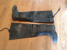 Ranger Black Thigh High Waders Boots Steel Shank Sz 13 Fishing Rubber
