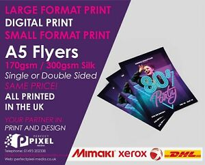 A5 Flyers Leaflets Printed Full Colour 170gsm 300gsm Silk - A5 Flyer Printing