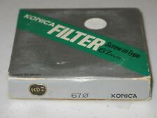 67mm - KONICA ND2 Neutral Density Filter New Old Stock   RARE           #67m6n1