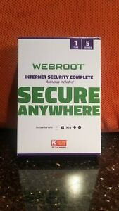 Webroot Internet Security 2020 Complete 5 Devices 1 Year Subscription
