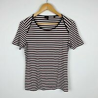 David Lawrence Womens Top Size Small Short Sleeve Striped Good Condition
