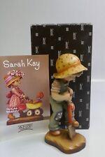 "Anri ""Hidden Treasure"" 6"" Hand Carved Wood Figurine By Sarah Kay - Mint In Box"
