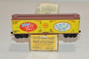 N scale Kadee Micro-Trains Quality Products 40' wood sheathed reefer car train