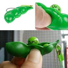 Fidget Toy Soybean Extrusion Stress Relieve Key Chain Phone Charm Squeeze Bean