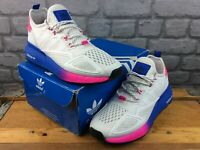 ADIDAS OG LADIES UK 6.5 EU 40 ZX 2X BOOST TRAINERS WHITE PINK BLUE RRP £110 M