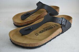 BIRKENSTOCK Black Gizeh BS Birko-Flor Upper Sandals - Size 39 US 8
