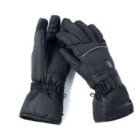 Men's Electric Heated Gloves Battery Powered Warmer Thermal Motorcycle Mittens