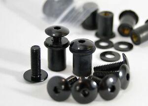 Honda Dome Low Profile Windscreen Bolt Kit Black Aluminium Screws, Well Nuts.