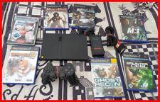 Sony PlayStation 2 Slimline + Original Controller + 2x Spiele