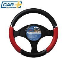 COCHE + coche cubierta de volante ROJA Cromo Calidad Velocidad HORQUILLA FUNDA