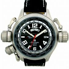 GERMAN XXL SWISS-GMT-movement-Worldtour 3 protecting crowns system blackA1298