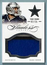 Tony Romo 2014 PANINI IMPECABLE 3 COLOR JUMBO con parche / 25 COWBOYS