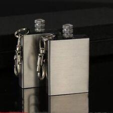 Water Match Flint Lighter Kerosene Oil Gas Keychain Camping Survival Tool