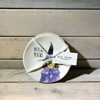 Rae Dunn Halloween Appetizer Plate Set (Ceramic) HOCUS POCUS, WITCH'S BREW.. NWT