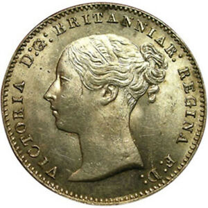 1859 Great Britain Queen Victoria Threepence Silver Coin