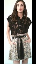 NWT ELIZABETH AND JAMES SILK DITSY FLORAL PAPERBAG SKIRT 0 XS