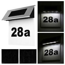 Solar Hausnummer mit LED Hausnummernleuchte Beleuchtung Beleuchtet Edelstahl DHL