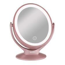 Aesfee Espejo de Maquillaje con 21 Luces LED, Aumento de 1x  7X   LED Doble Cara