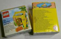 2 LEGO Banana Party Guy Mini Figure Boombox Accessory Cardboard Tiki Hut Box Lot