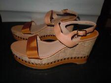 Women's Salvatore Ferragamo Shoes Platform Wedge Sandals size 10 B