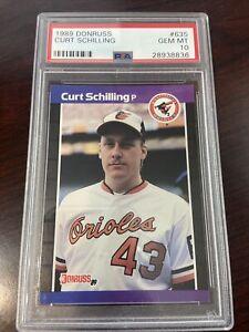 1989 Donruss Curt Schilling PSA 10 #635 Orioles Rookie RC