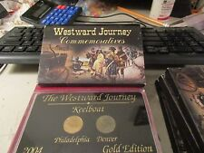 2004 Westward Journey Commemorative Nickles Gold Edition Keelboat