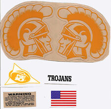 USC Trojans XL F/S-Football Helmet DECALS /2 Sides and Back Bumper