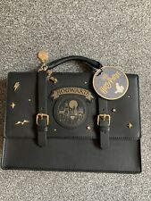 Harry Potter Hogwarts Satchel Bag, Black And Gold Style