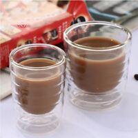 85/150ml Double Wall Coffee Milk Mug Home Office Water Insulate Tea Cup Glass
