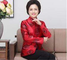 red Chinese Silk/satin Women's Evening wear dress Jacket/coat size S-3XL