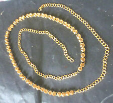 Antique Gold Plated Brown Stone Waste Chain Saree Hip Chain New Style adjustable