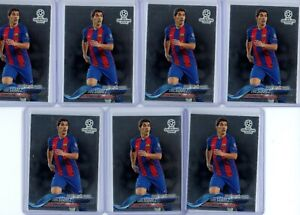 2017-18 Topps Chrome UCL Promo LG-LS Luis Suarez FC Barcelona (Lot of 7)