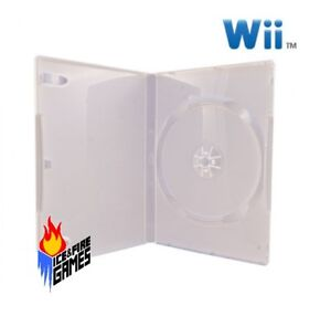 New Nintendo Wii Replacement Retail Game Case (White)