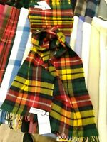 100% Lambswool Scarf by Lochcarron | Buchanan Modern | Made in Scotland | Tartan